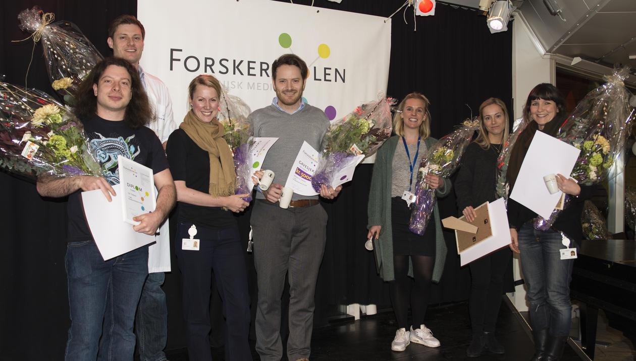 From the left:  Kai Triebner, Gard F. T. Svingen, Hanne Dillekås, Øystein Eikrem, Ida-Sofie Grønningsæter, Christine Drengenes, Maria K. Jonsson.